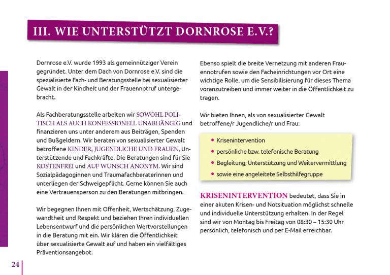 Wie unterstützt Dornrose S.24